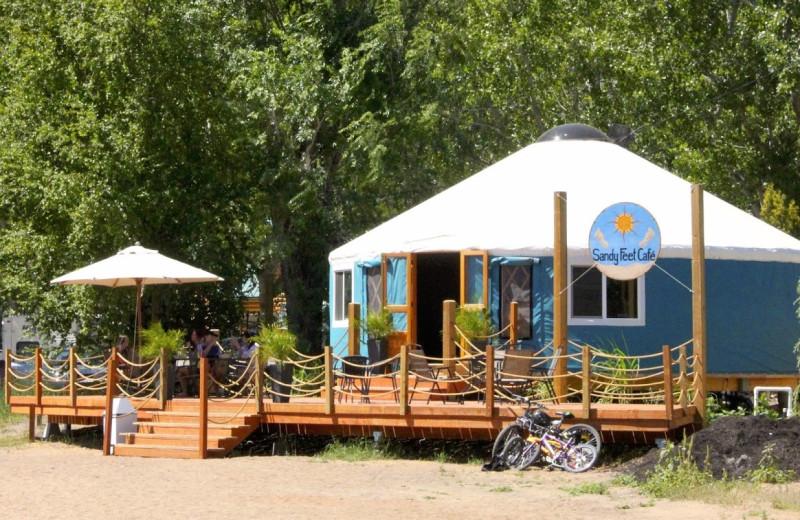 Cafe exterior at Barefoot Beach Resort.
