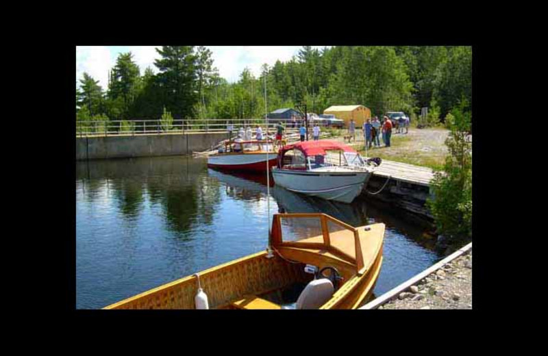 Transport boats at Red Pine Wilderness Lodge.