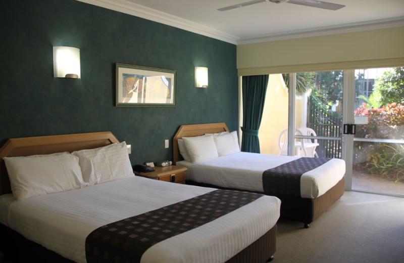 Guest room at Rihga Colonial Club Resort Cairns.