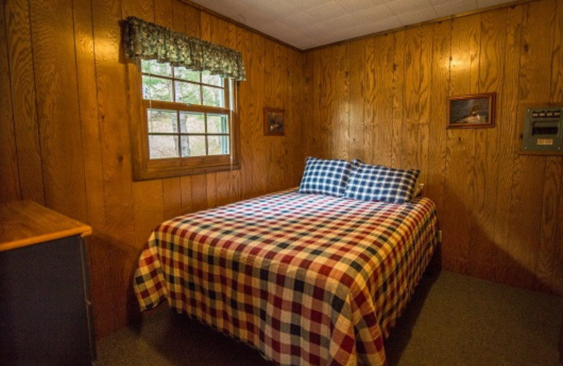 Cabin bedroom at Wilderness Bay Lodge and Resort