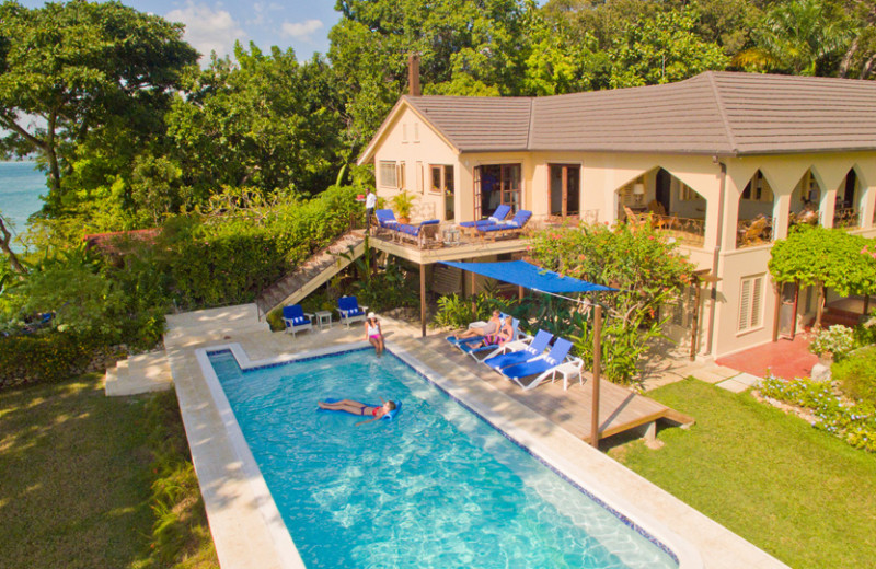 Villa  pool at Bluefields Bay Villas.