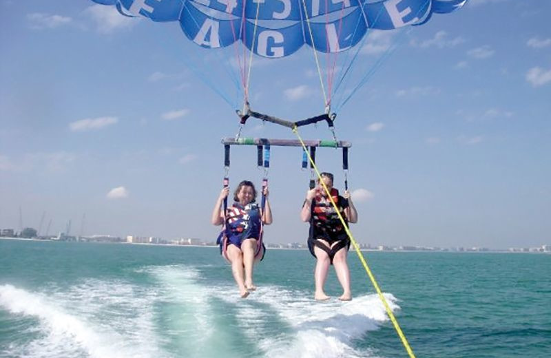 Parasailing at Plumlee Gulf Beach Realty.