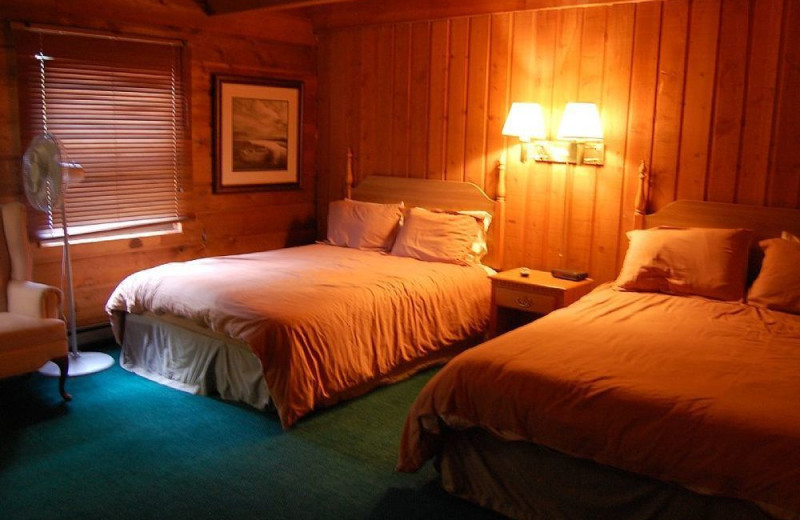 Two bed guest room at Aspen View Lodge.