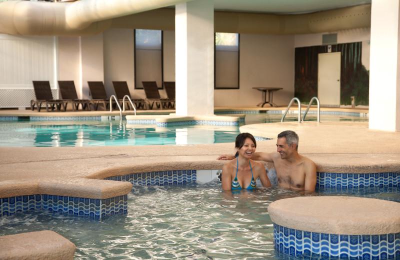 Relaxing in pool at The Breakers Resort.