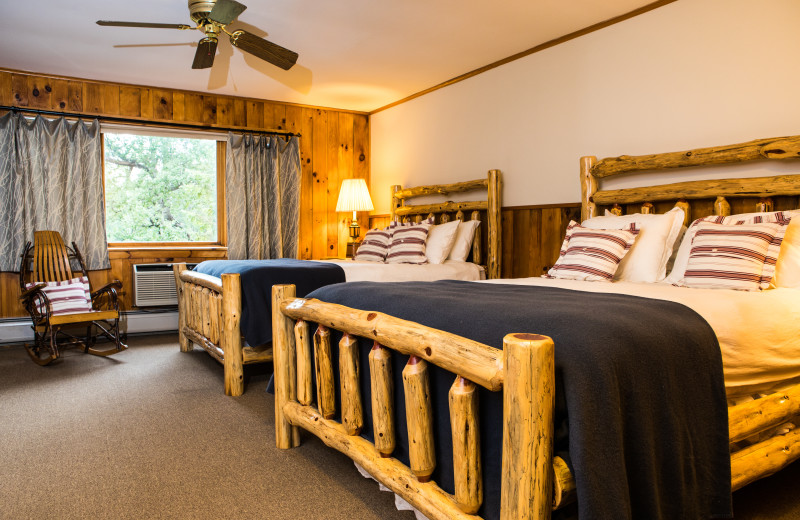 Cottage room at Garnet Hill Lodge.  Nestled in the woods short distance from the main building of our four-season resort, this spacious room offers calm and relaxation while providing you access to the activities and restaurant at Garnet Hill.
