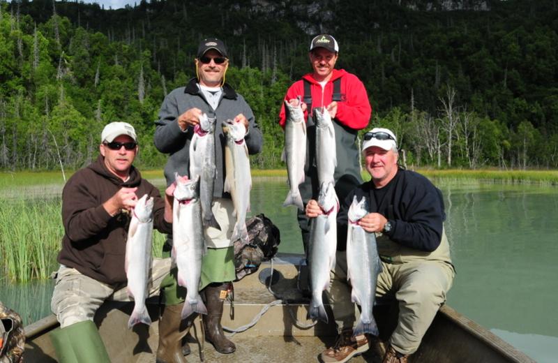 Silver salmon fishing at Gone Fishin' Lodge.