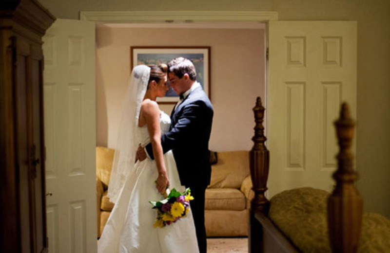Wedding couple at The Meadowmere Resort.