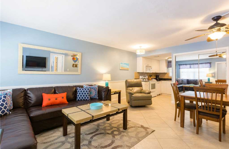 Rental interior at Surf Song Resort Condominiums.
