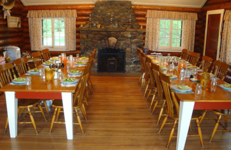 Dining hall at Shady Roost Lodge.
