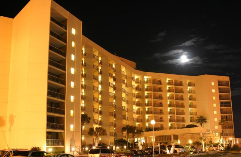 Exterior view of The Dunes Condominiums.