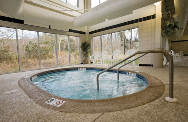 Hot tub view at Wyndham Vacation Resorts Shawnee Village.