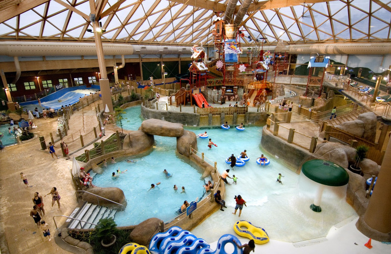 Indoor waterpark at Massanutten Resort.
