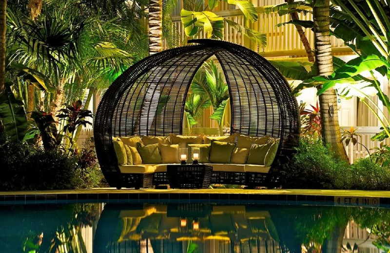 Pool side cabana at The Inn at Key West.