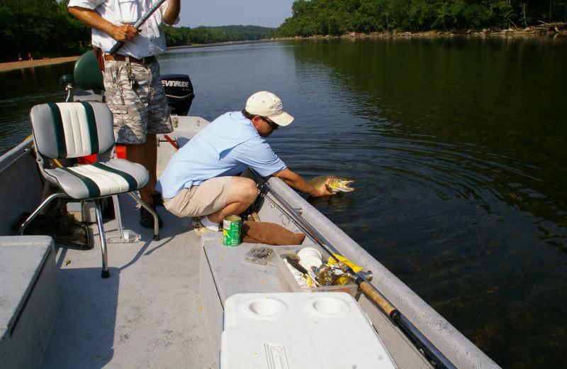 Boating at The White River Inn.