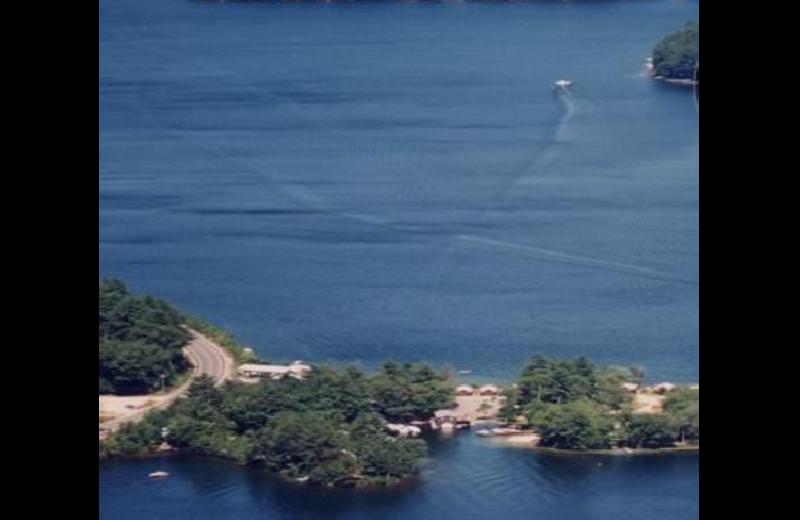Lake view of Sandy Point Beach Resort.