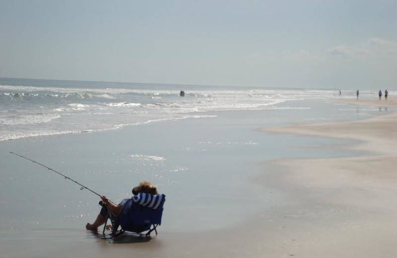 Fishing at Coral Sands Oceanfront Resort.