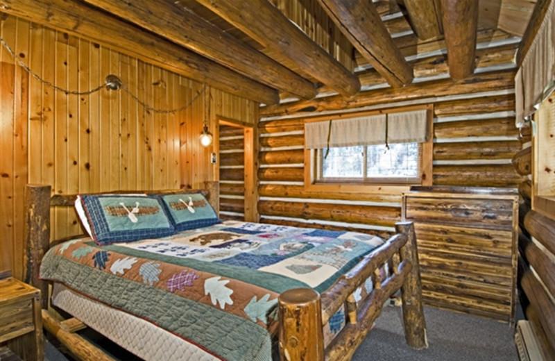 Cabin duplex interior at Redfish Lake Lodge.
