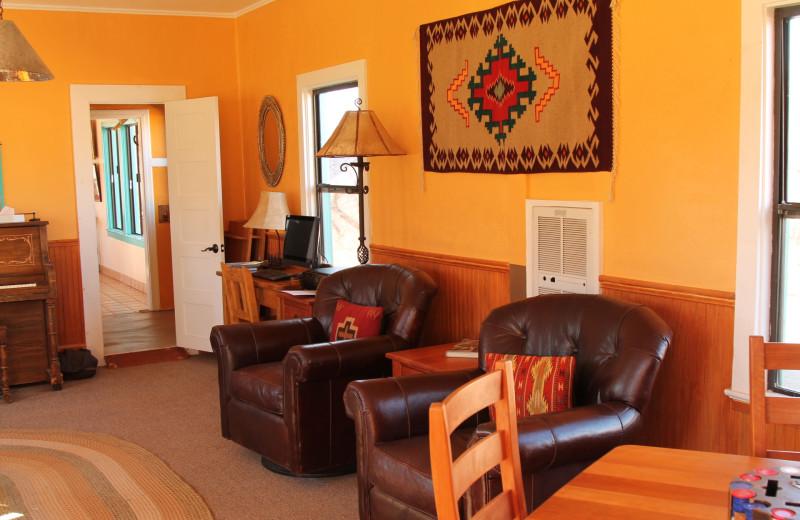 Guest room at Circle Z Ranch.