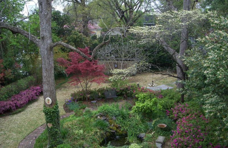 Garden at C.W. Worth House Bed & Breakfast.