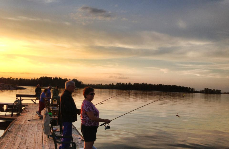 Fishing at Northern Lights Resort, Outfitting and Youth Quest.