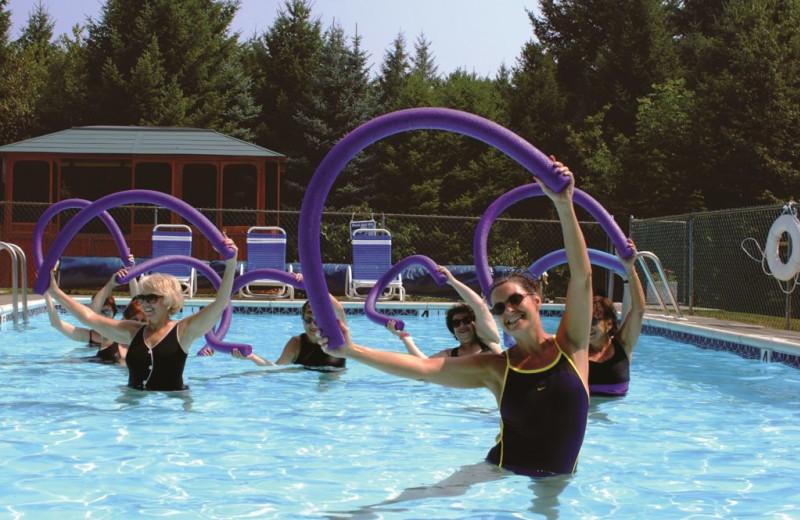 Aqua fitness at Deerfield Spa.