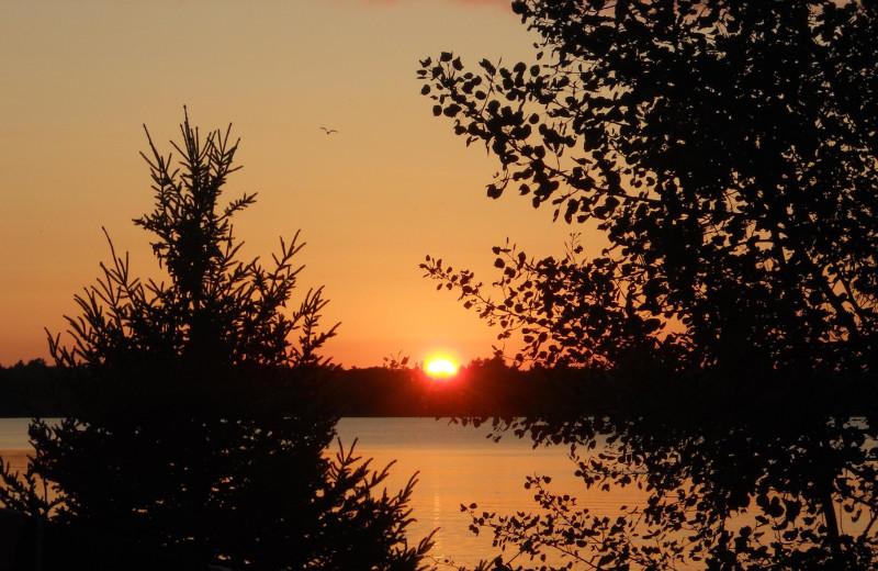 Sunset at Buckhorn Resort.