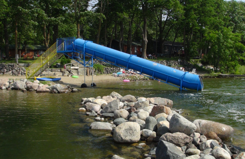 Beach slide at Acorn Hill Resort.