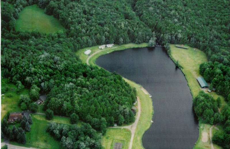 Aerial View of Lake Genero