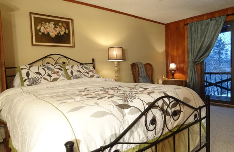 Balcony room at Garnet Hill Lodge.