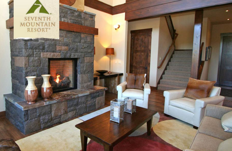 Townhome Living Room at Seventh Mountain Resort