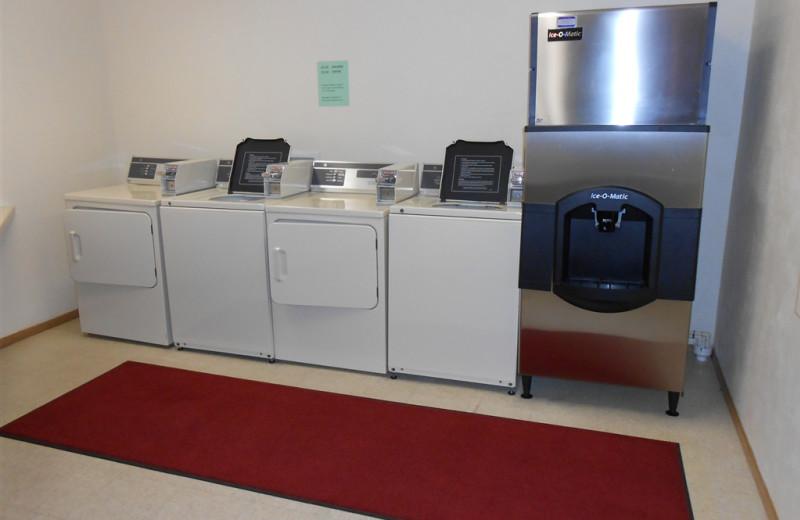 Laundry facilities at Pheasant Park Resort.
