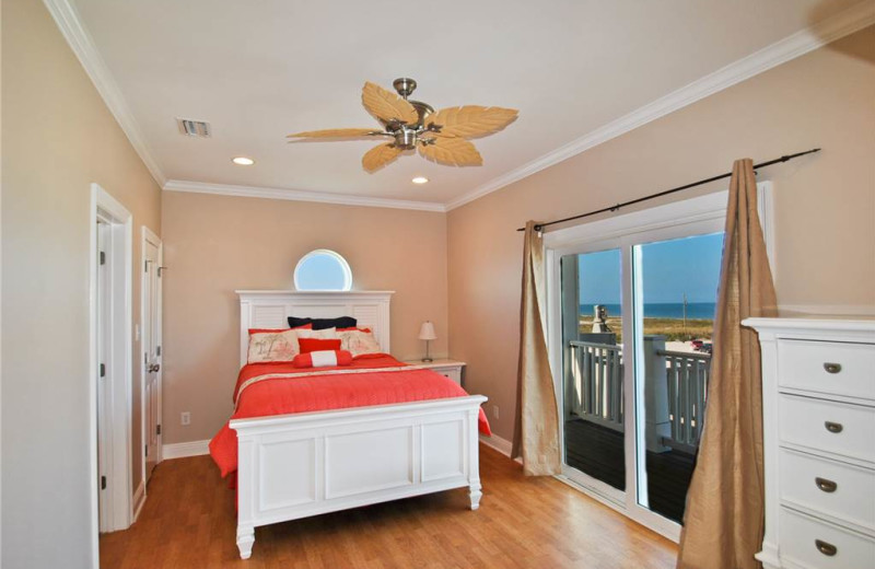 Rental bedroom at Dauphin Island Beach Rentals, LLC.