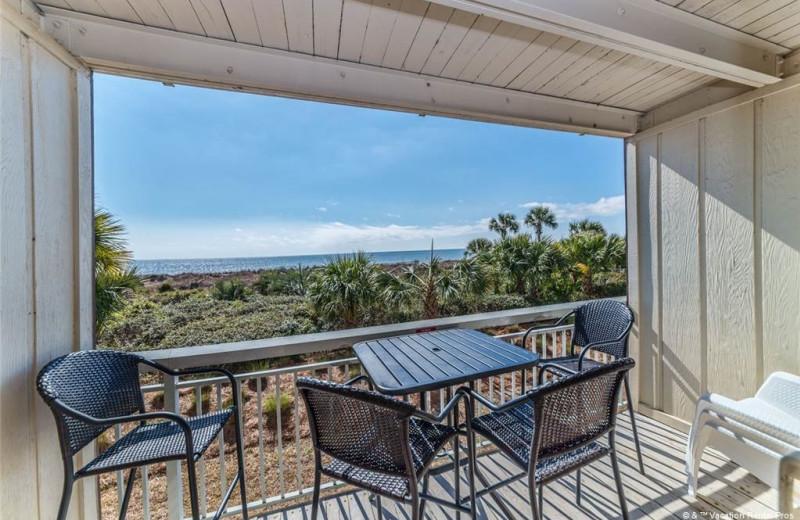 Rental balcony at Vacation Rental Pros - Hilton Head Island.