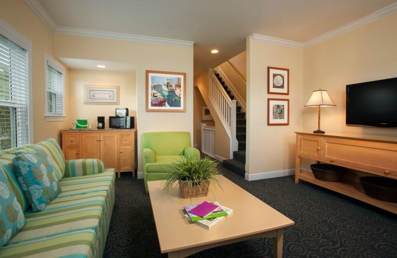 Guest living room at Parrot Key Resort.