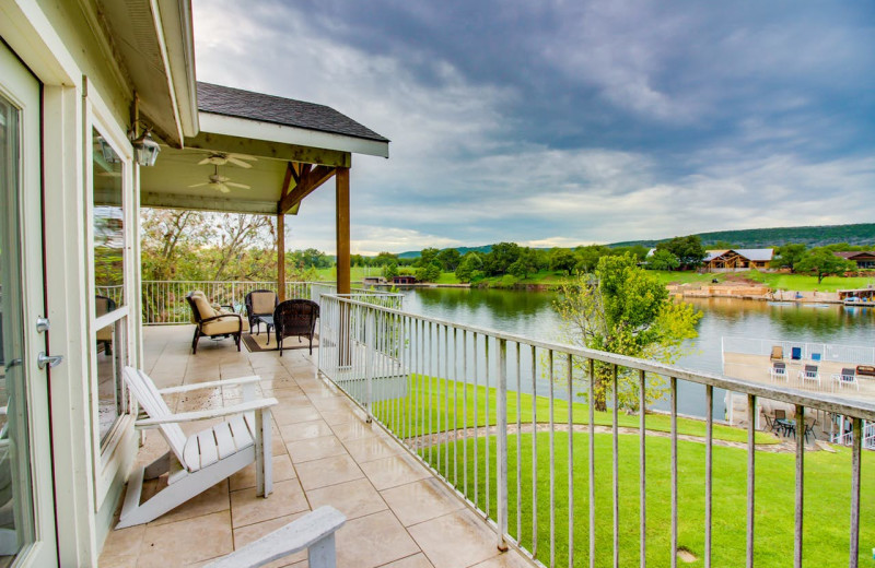 Rental deck at Still Waters Vacation Home.