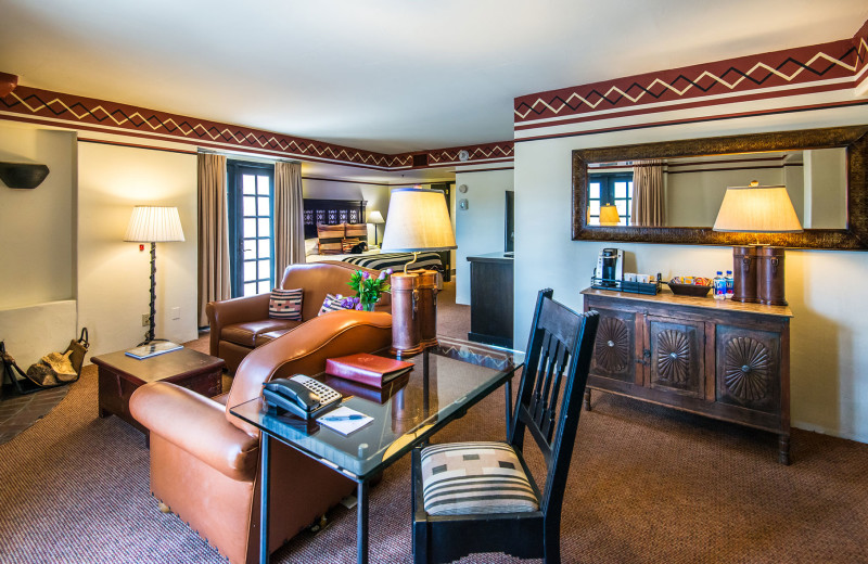 Guest suite at Inn and Spa at Loretto.