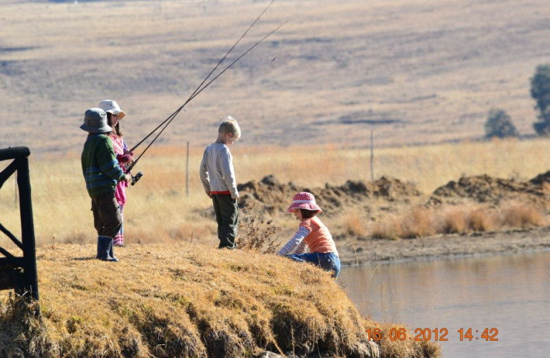 Fishing at Mount Everest Guest Farm.