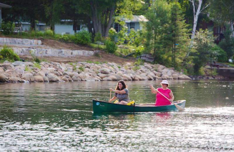 Canoeing at Great Blue Resorts- Shamrock Bay Resort.