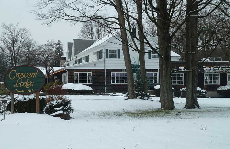 Exterior of Crescent Lodge.