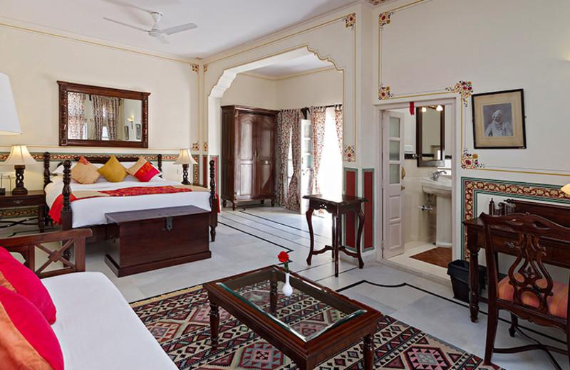 Guest room at Rohet Garh.