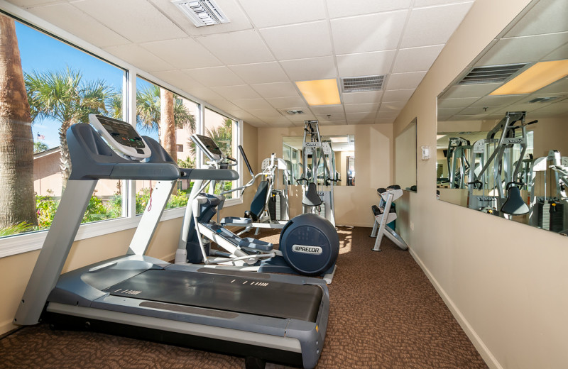 Fitness room at The Islander in Destin.