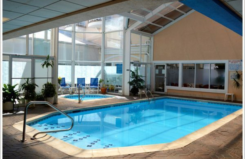 Indoor pool at The White Sands Oceanfront Resort & Spa.