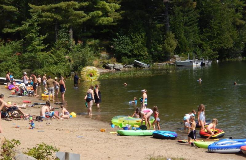Beach at Bonnie Lake Resort.
