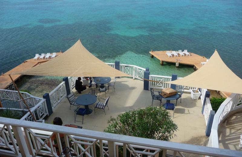 Deck view at Moxons Beach Club.