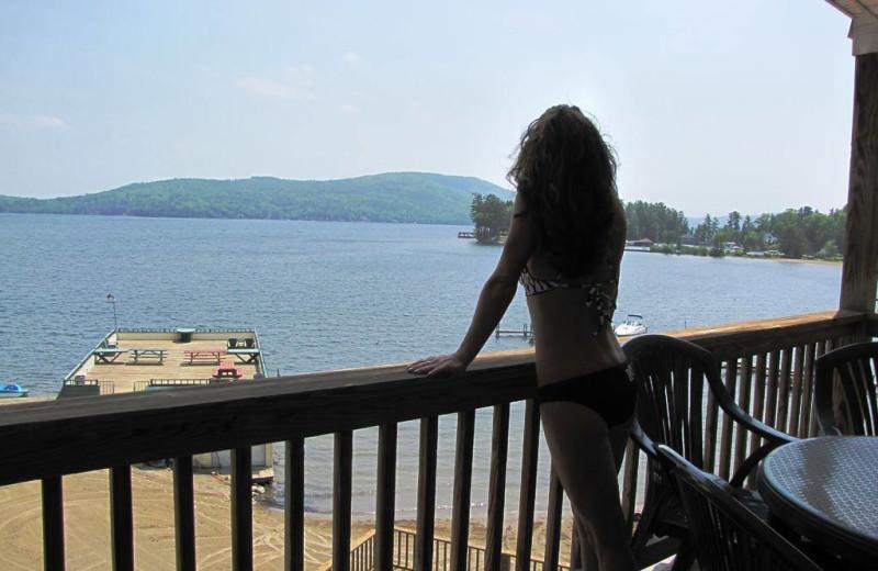 Balcony view at The Depe Dene Resort.