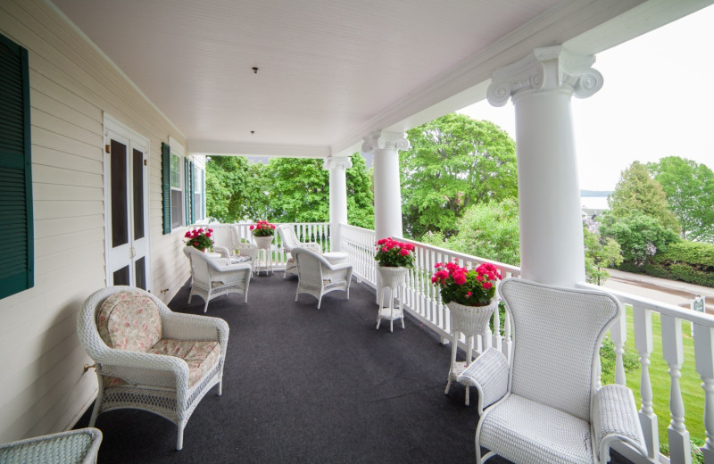 Porch at Harbour View Inn.