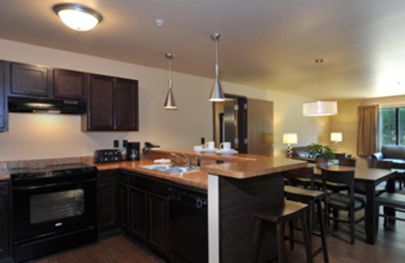 Kitchen at Baker's Sunset Bay Resort.