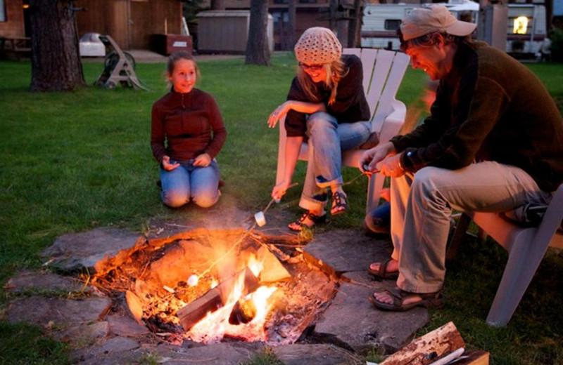 Campfire at Cold Springs Resort.