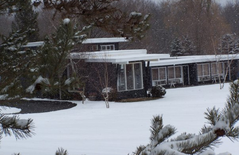 Exterior Winter View at Silvanus Lodge