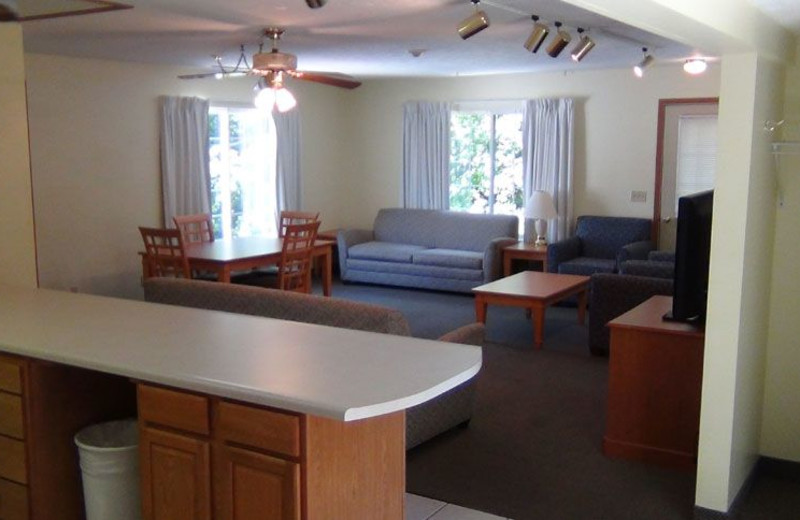 Kitchen and Living Area at Bay Lodging Resort